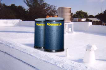 Commercial flat roof elastomeric